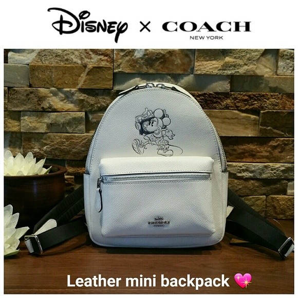 42404a8ed2e  SALE  NEW Coach x Minnie Leather Mini Backpack